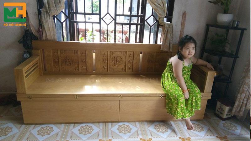 ghế sofa giường gấp gỗ