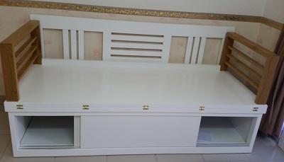 ghế giường gỗ gấp màu trắng